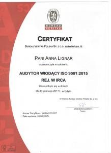 Anna Lignar - wykładowca, trener, Audytor Wiodący IRCA, ISO 9001:2015. Szkolenia i kursy.